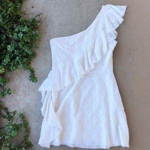 Tularosa Revolve One Shoulder Ruffle Diamond Dress